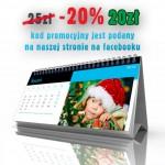 Kalendarze biurkowe miesięczne -20% na Gwiazdkę