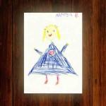 Pomysły na fotoksiążki - rysunki z przedszkola