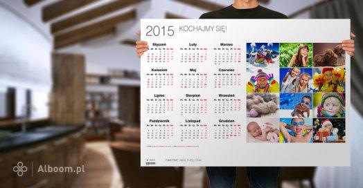 Fotokalendarze jednoplanszowe w nowych większych rozmiarach