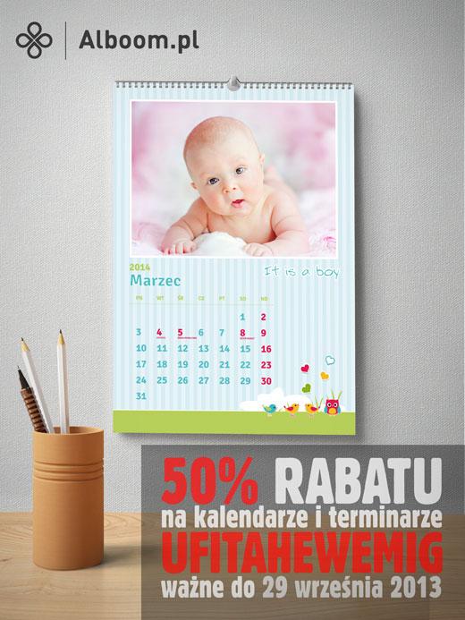najlepsze foto kalendarze w prezencie na imieniny od Alboom.pl