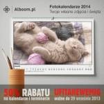 Największa promocja na fotokalendarze w tym roku w Alboom.pl
