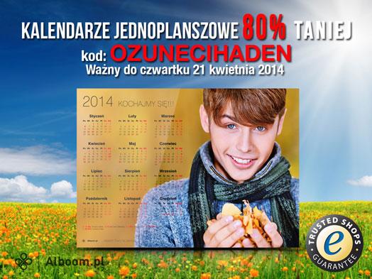 Kalendarze jedno planszowe na Wielkanoc już za 2zł w Alboom.pl