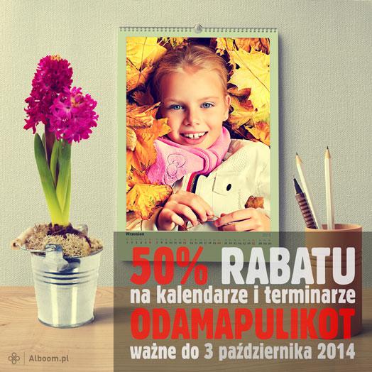 Fotokalendarze 50% taniej w prezencie od Alboom.pl