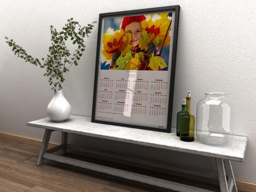 Kalendarz jednoplanszowy Alboom oprawiony w ramkę