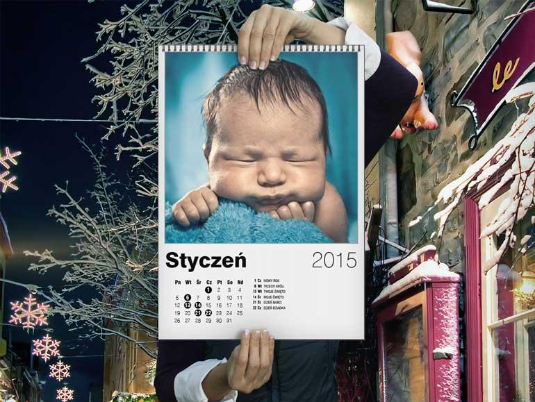 Konkurs Kolorowe Święta - Kalendarz A3 - Drukarnia Świętego Mikołaja - ALBOOM.PL