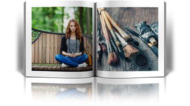 Kwadratowe fotoksiążki ze zdjęciami z instagramu w Alboom.pl