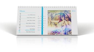 Fotokalendarz biurkowy tygodniowy ze zdjęciami z instagram w Alboom.pl