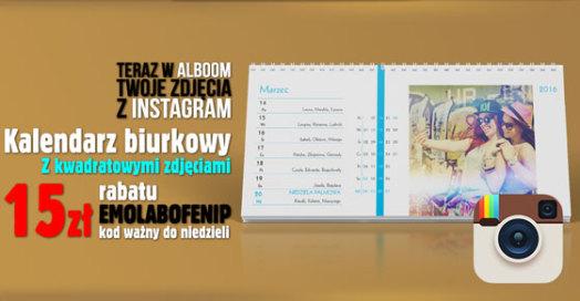 Kalendarze biurkowe tygodniowe ze zdjęciami z Instagram w Alboom.pl