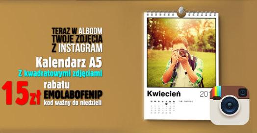 Kalendarz A5 ze zdjęciami z Instagram w Alboom.pl