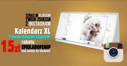 Kalendarze biurkowe XL ze zdjęciami z Instagram w Alboom.pl