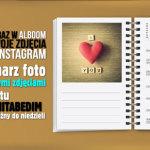 Terminarz ze zdjęciami z Instagram w Alboom.pl