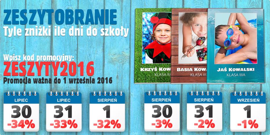 Zeszytobranie czyli zeszyty szkolne z własnym zdjęciem taniej w Alboom.pl
