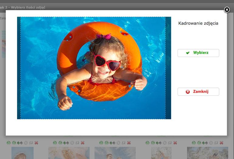 Kadrowanie pocztówek z własnych zdjęć w Alboom.pl