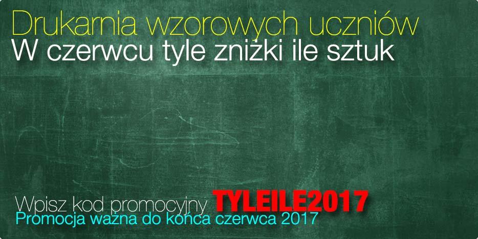 Drukarnia Wzorowych Uczniów 2017.