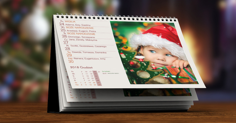 fotokalendarz tygodniowy XL - projekty pionowe