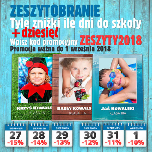 Zeszytobranie 2018 w Alboom.pl