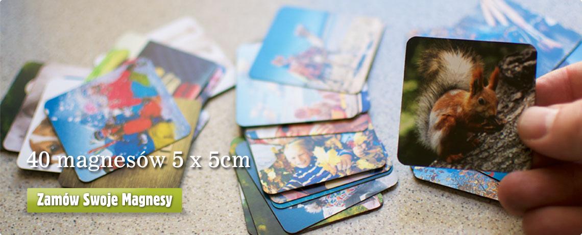 Magnesy 5 na 5cm z własnym zdjęciem w Alboom.pl