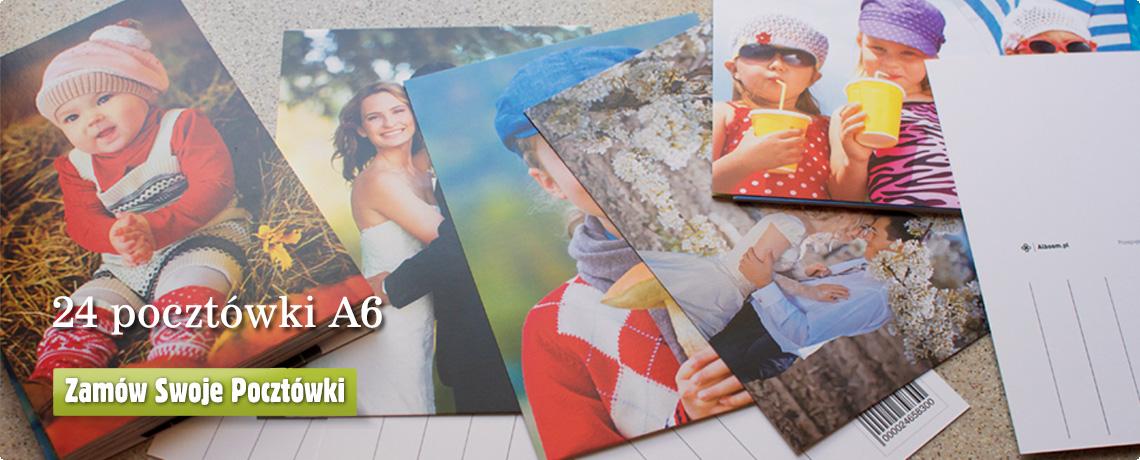 Pocztówki z własnymi zdjęciami na w kolorowej ramce w Alboom.pl
